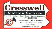 Cresswell Auction Service
